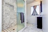 Bathroom interior in granite tile  — Stock Photo