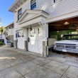 House exterior. View of garage and driveway — Stock Photo #50487911