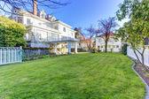 Luxury house with backyard garden — Stock Photo