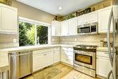 白いキッチン ルーム インテリア — ストック写真