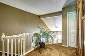 2 階デッキ手すりと椰子の木 — ストック写真
