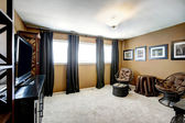 Living room interior in black and brown tones — Stockfoto