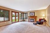 Empty living room in luxury house — Stock Photo