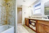 Bright bathroom interior — Stock Photo
