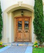 Luxury house entrance porch — Stock Photo