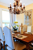 Served dining table in luxury  house — Stockfoto