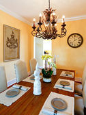 Served dining table in luxury  house — Stock Photo
