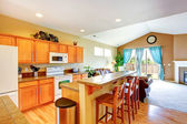 House interior. Kitchen room — Stockfoto