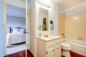 Bathoom interior in masterbedroom — Stock Photo