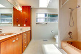 Bathroom interior in empty house — Stock Photo