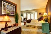 Cozy bedroom in luxury house — Stock Photo