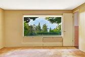 Empty room with beautiful window view — Stock Photo