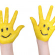 Happy hands — Stock Photo
