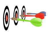Three darts — Stock Photo