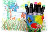 Crayones de cera — Foto de Stock