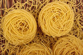 Noodles on bamboo — Stock Photo