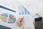 Analysing numbers — Stock Photo