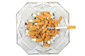 Ashtray with cigarette — Stock Photo