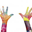 Colorful hands — Stok fotoğraf
