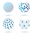 Set of Abstract globe icons - Stock Vector