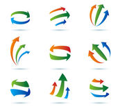 Abstract arrows vector icons collection — Stock Vector