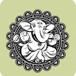 Creative illustration of Hindu Lord Ganesha - Stock Vector