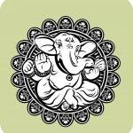 Creative illustration of Hindu Lord Ganesha — Stock Vector