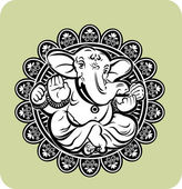 Creative illustration of Hindu Lord Ganesha — Stock Vector