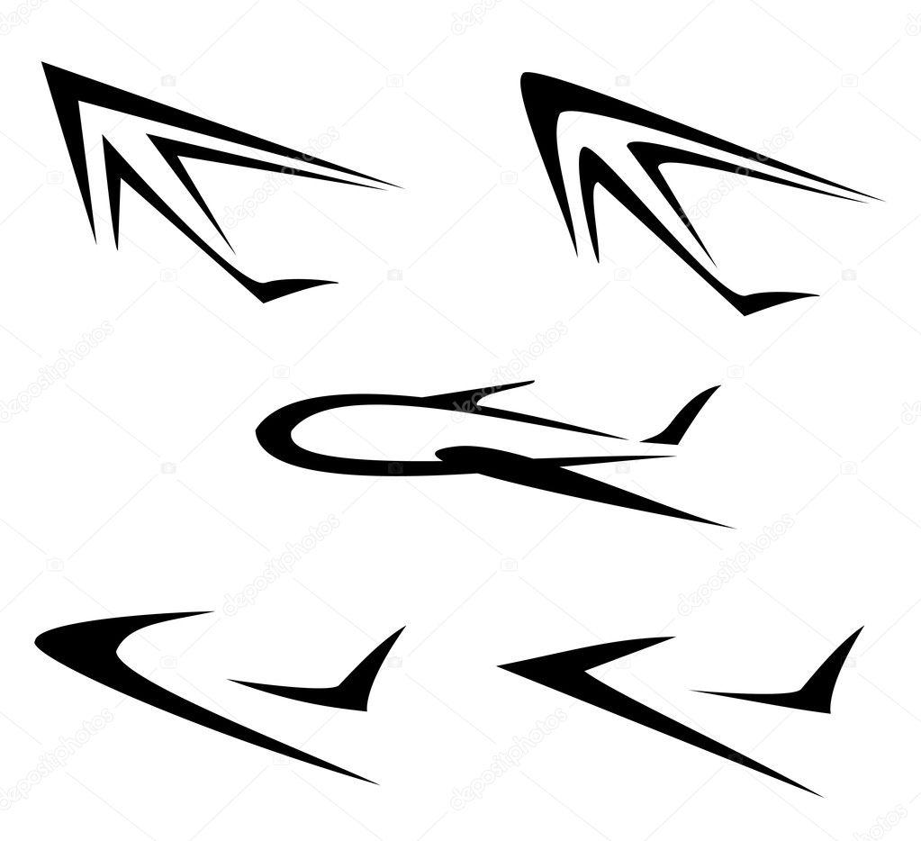 飞行飞机符号的设置