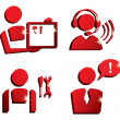 Stock Vector: Market service icons set