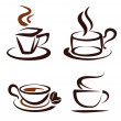 Vector set of coffee cups icons — Stock Vector #13520313