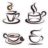 Vector conjunto de iconos de tazas de café — Vector de stock