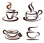 Vector set of coffee cups icons — Vettoriale Stock