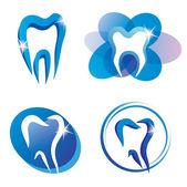 Zestaw ikon ząb stylizowane — Wektor stockowy