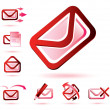 Royalty-Free Stock Vector Image: Email icons set