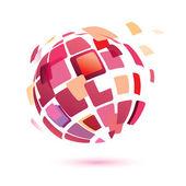 Glob streszczenie symbol — Wektor stockowy