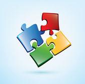 Puzzle picies vector icon — Stock Vector