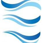 Water waves design elements set — Stock Vector