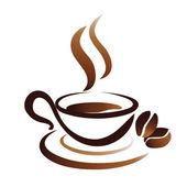 Vector sketch of coffee cup, icon — Stock Vector