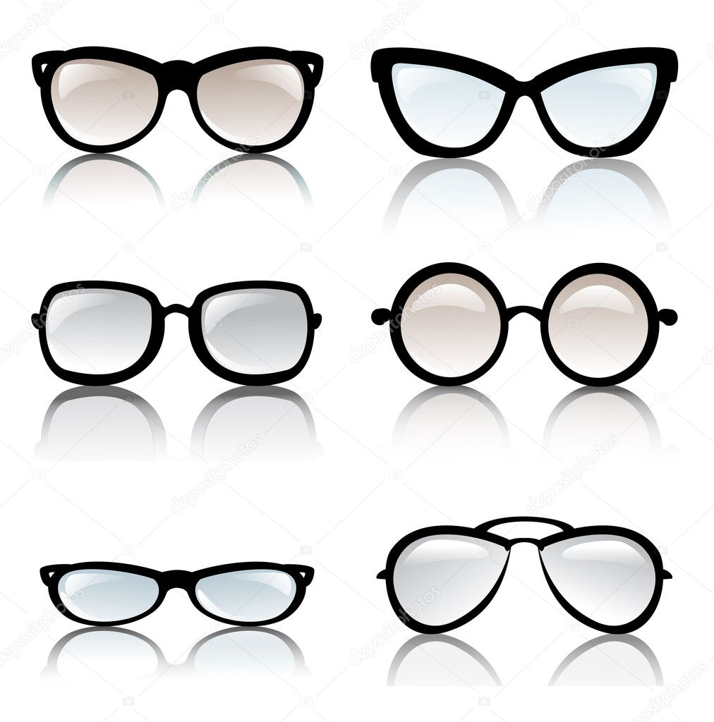 Eyeglass Frame Vector : Glasses frames vector set Stock Vector ? baldyrgan #15470273