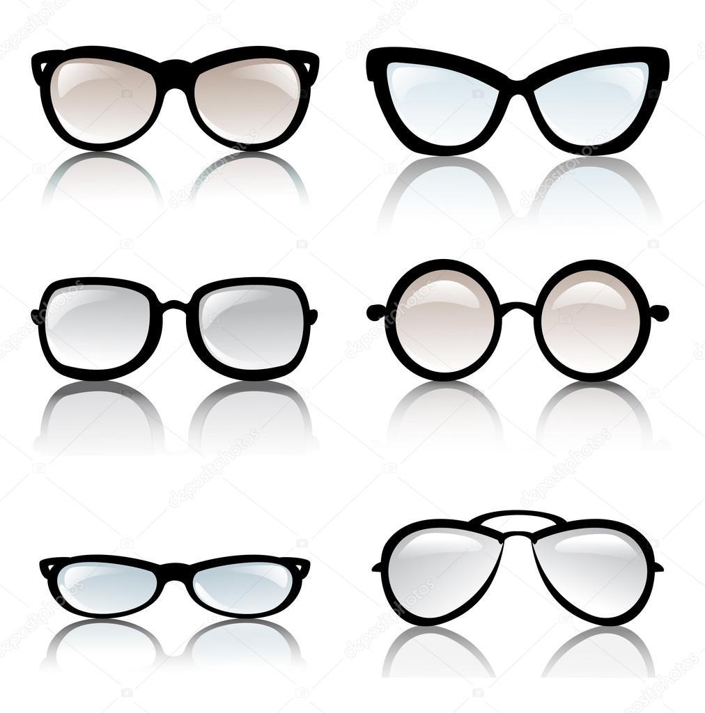 Glasses Frame Vector : Glasses frames vector set Stock Vector ? baldyrgan #15470273
