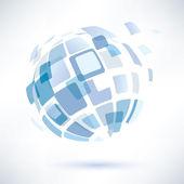 Simbolo del globo astratto, concetto di business — Vettoriale Stock