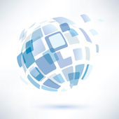 Símbolo del mundo abstracto, concepto de negocio — Vector de stock