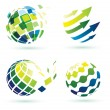 Abstract globe icons — Stock Vector #18053777