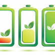 Eco battery charge level, vector icons — Stock Vector #18053781