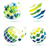 Abstract globe icons — Stock Vector