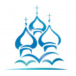 Russian orthodox church — Stock Vector #18949115