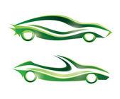 Spor araba stilize vektör simgesi — Stok Vektör