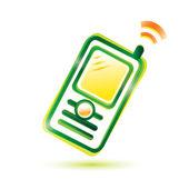 Ikona jeden telefon komórkowy — Wektor stockowy