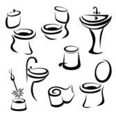Conjunto de iconos santary — Vector de stock